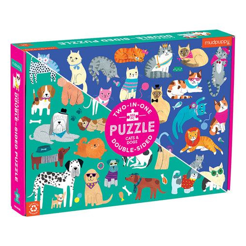 Mudpuppy Double Sided 100 Piece Cats & Dogs Puzzle