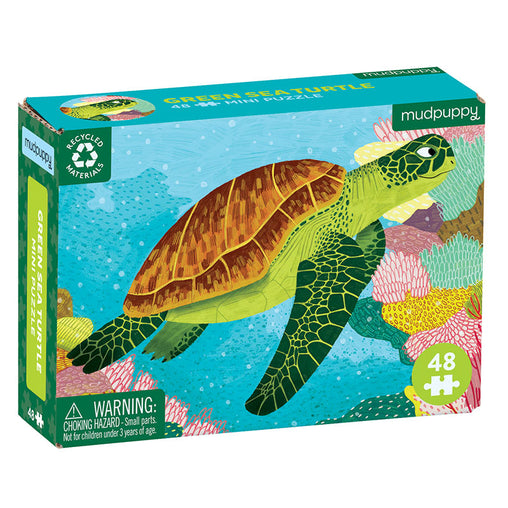Mudpuppy Mini Puzzle Green Turtle 48 Pieces