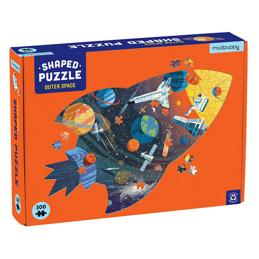 Mudpuppy Outer Space 300 Piece Shape Puzzle Box
