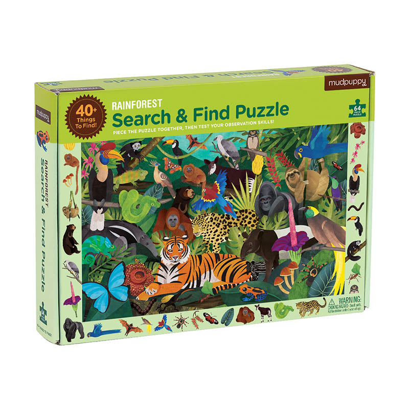 Mudpuppy Rainforest 64 Piece Search & Find Puzzle