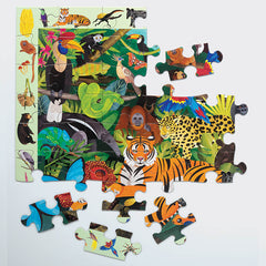 Mudpuppy Rainforest 64 Piece Search & Find Puzzle pieces