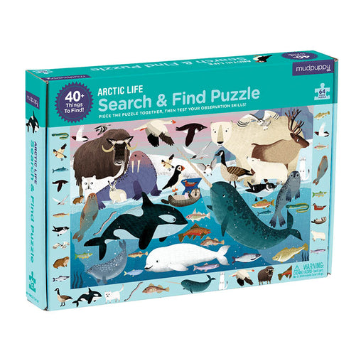 Mudpuppy Arctic Life 64 Piece Search & Find Puzzle