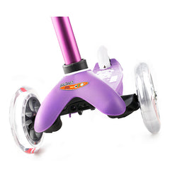 Mini Micro Scooter Deluxe Purple Front Wheels