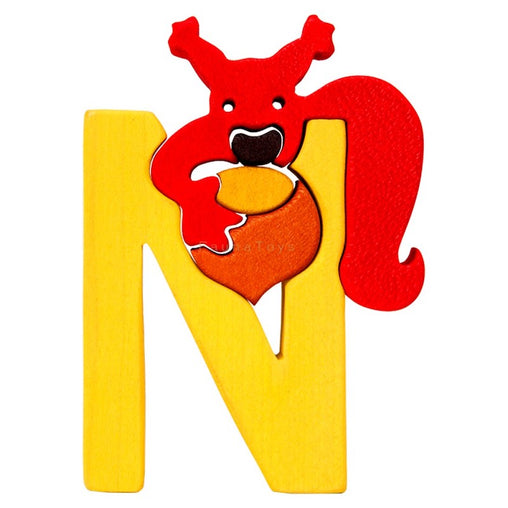 Fauna N for Nut Letter Puzzle