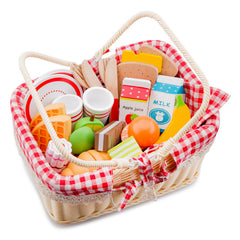 New Classic Toys Picnic Basket Food Inside