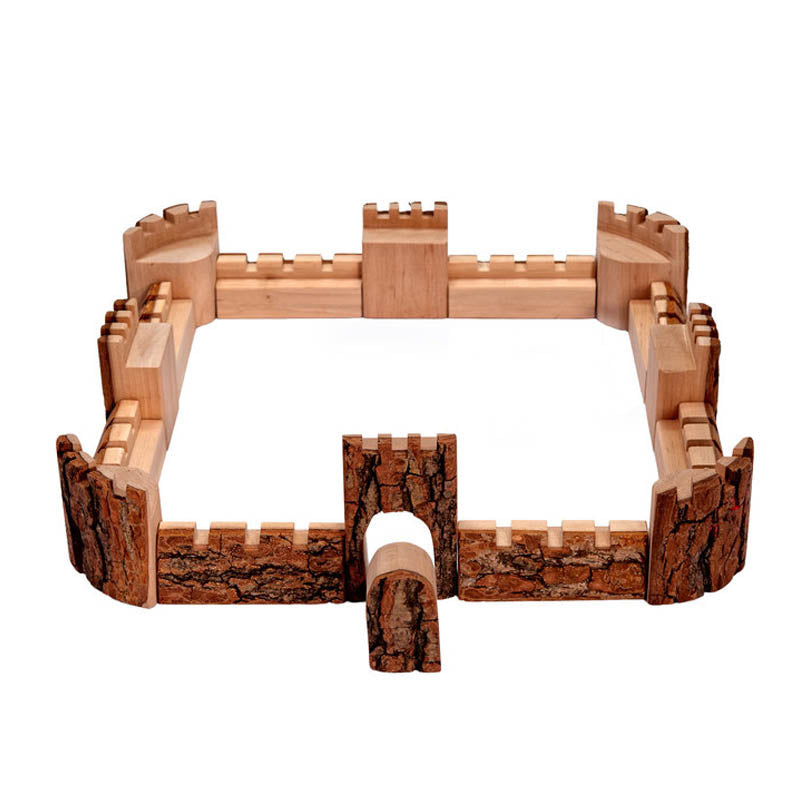 Magic Wood Natural Wood Castle Blocks 16 Piece