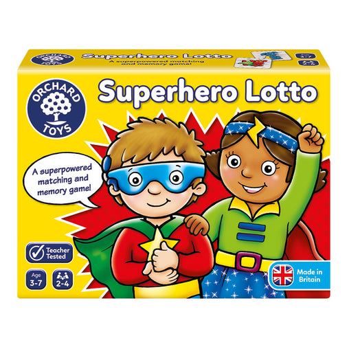 Orchard Toys Superhero Lotto Game Packaging