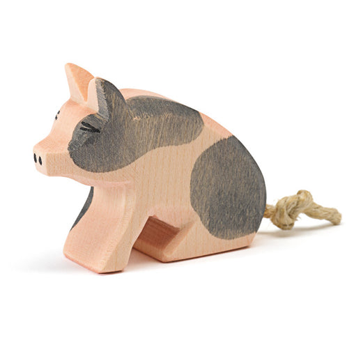 Ostheimer Wooden Piglet Spotted Sitting Small