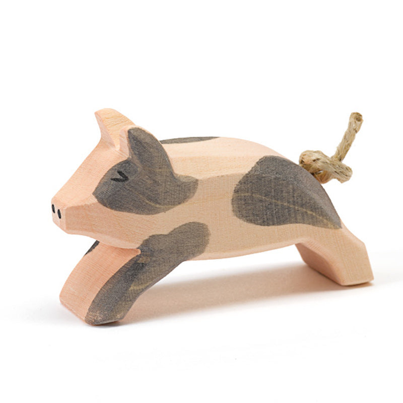 Ostheimer Small Wooden Running Piglet
