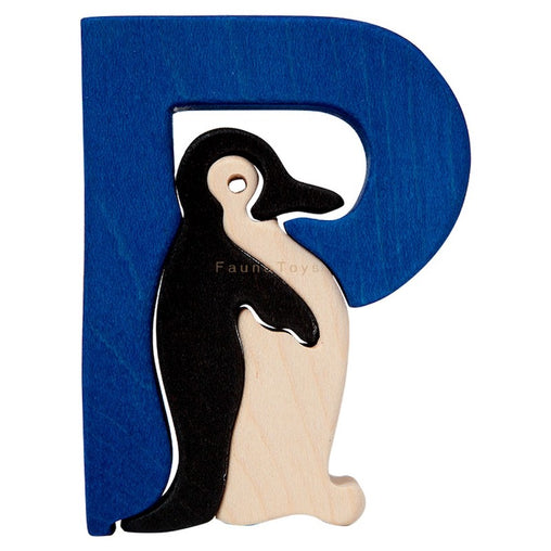 Fauna P for Penguin Letter Puzzle