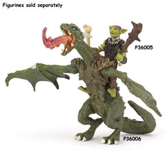 Papo Articulated Dragon 36006 with goblin