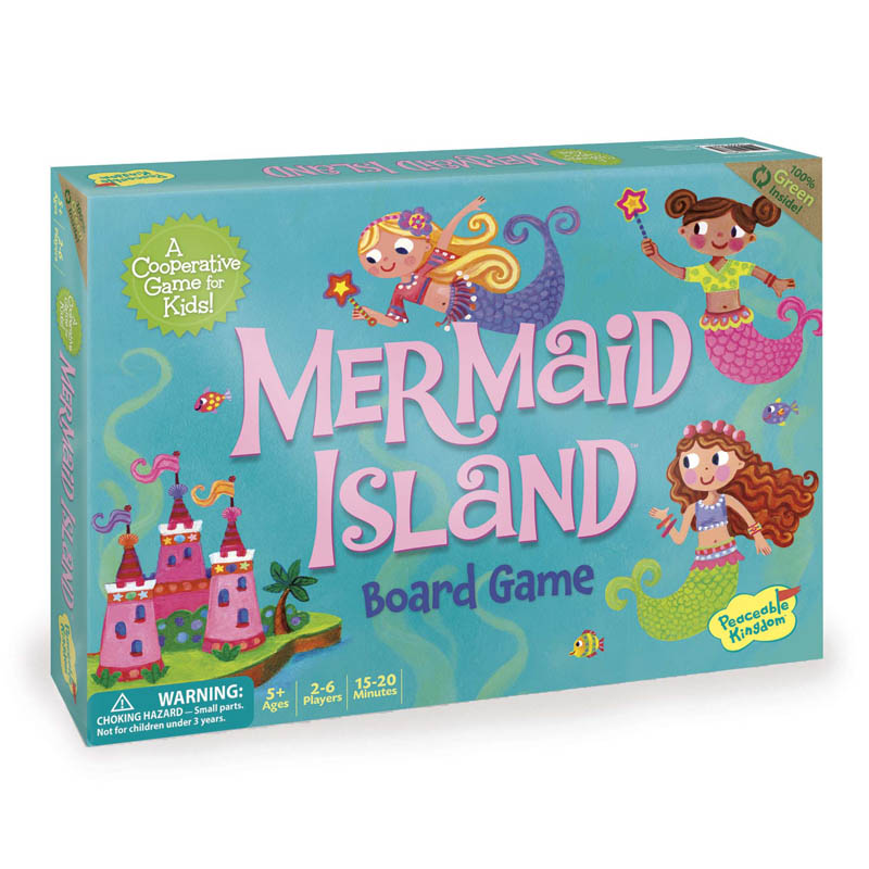 Peaceable Kingdom Cooperative Game Mermaid Island