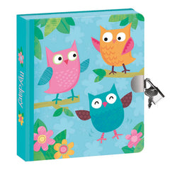 Peaceable Kingdom Lock and Key Diary Owls