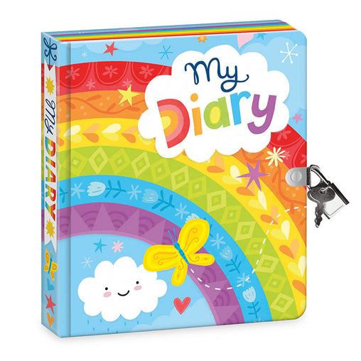 Peaceable Kingdom Lock & Key Diary Rainbow