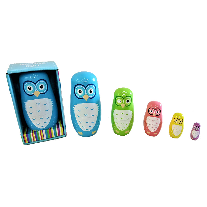 Fun Factory Wooden Owl Nesting Dolls