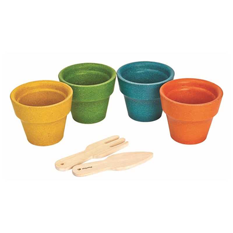 PlanToys Flower Pot 4 Piece Set