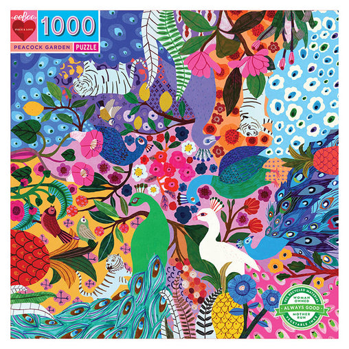 Eeboo Peacock Garden Puzzle 1000 Pieces