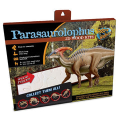 Heebie Jeebies Parasaurolophus Dinosaur 3D Wood Kit Packaging