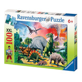 Among the Dinosaurs 100 Piece XXL Puzzle