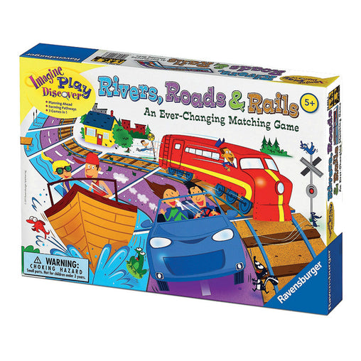 Ravensburger Game Rivers, Roads and Rails Packaging