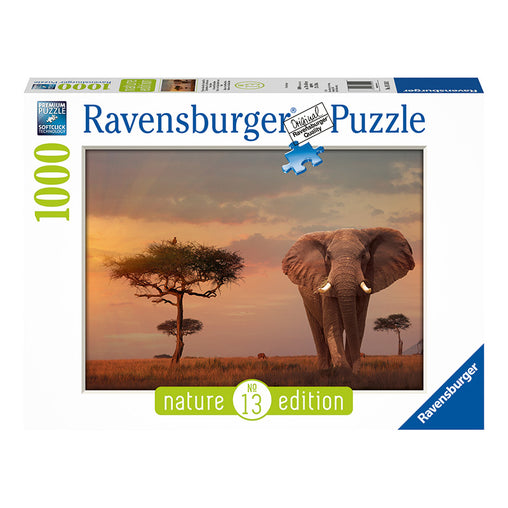 Ravensburger Elephant Of The Massai Mara 1000 Piece Puzzle Packaging