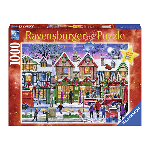 Ravensburger Christmas In The Square 1000 Piece Puzzle Packaging