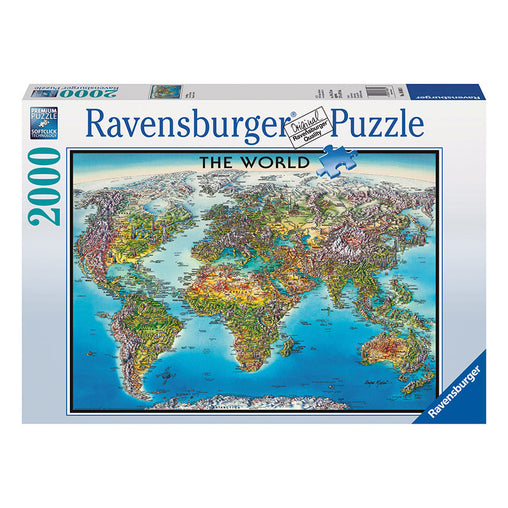 Ravensburger World Map 2000 Piece Puzzle Packaging