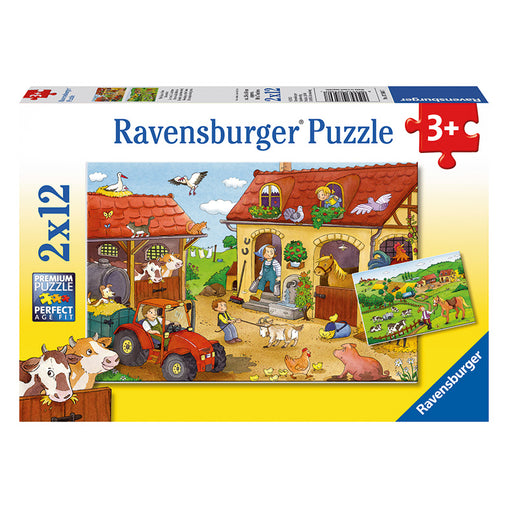 Ravensburger Working on the Farm 2x12-piece Puzzle