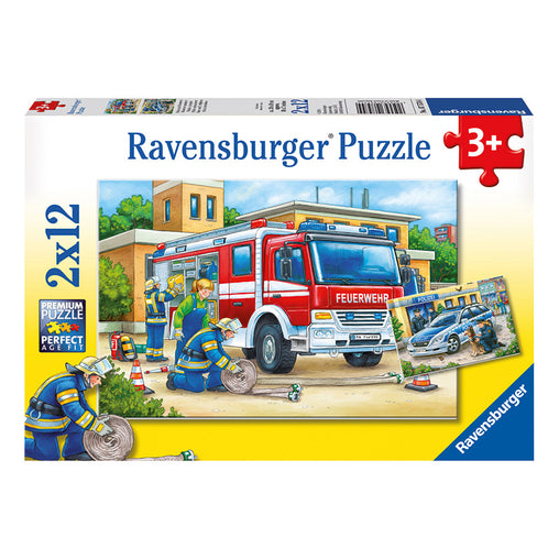 Ravensburger Police and Firefighters 2 x 12 Piece Puzzle