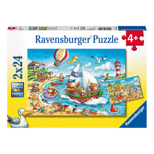 Ravensburger Seaside Holiday 2 x 24 Piece Puzzle Packaging