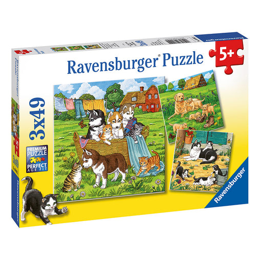 Ravensburger Cats and Dogs 3 x 49 Piece Puzzle