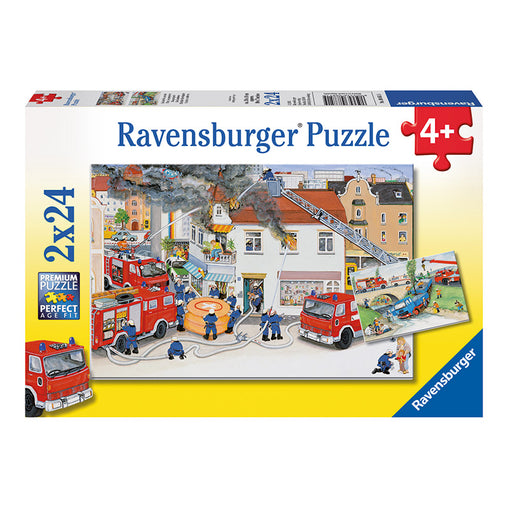 Ravensburger Busy Fire Brigade 2 x 24 Piece Puzzle