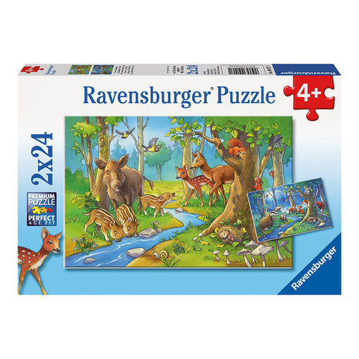 Ravensburger Cute Animals of the Forest 2 x 24 Piece Puzzle