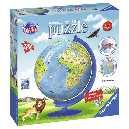 Ravensburger Children's Globe 3D Puzzleball 180 Pieces