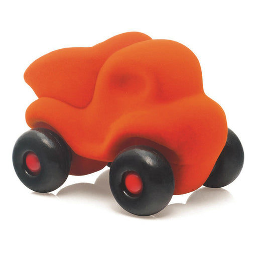 Rubbabu Little Dump Truck Orange