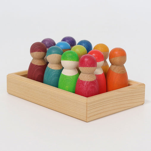 Grimm's Rainbow Wooden Friends 12 Pieces