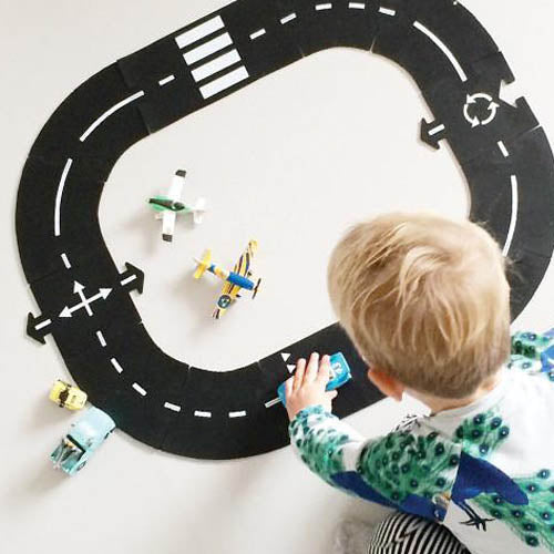 Waytoplay Ringroad 12 Piece Rubber Road Set