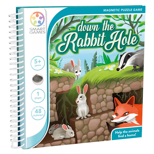 Smart Games Down The Rabbit Hole Magnetic Travel Game Cover