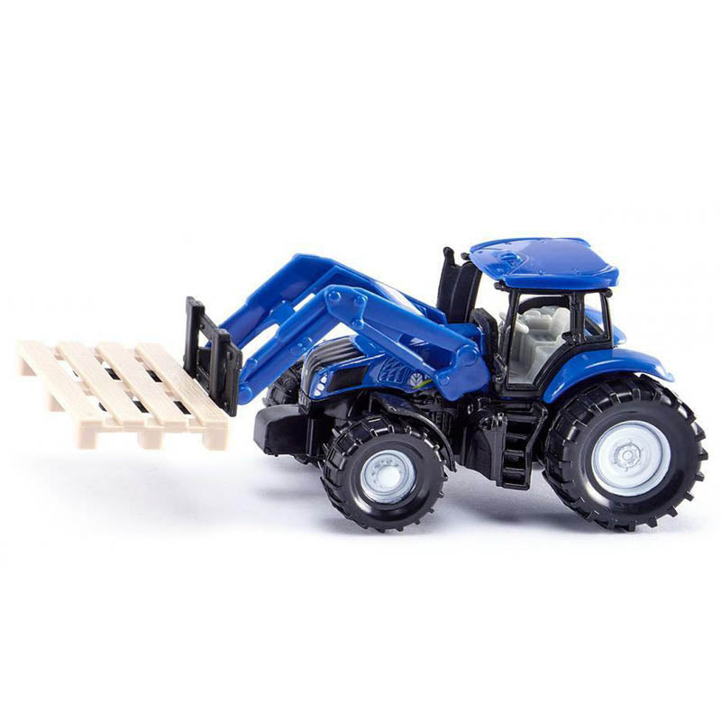 Siku New Holland Tractor with Fork for Pallets Diecast Model