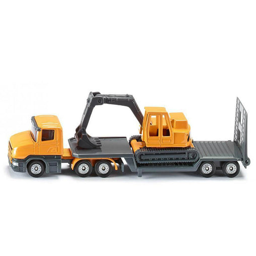 Low loader with Excavator siku diecast model toy vehicle