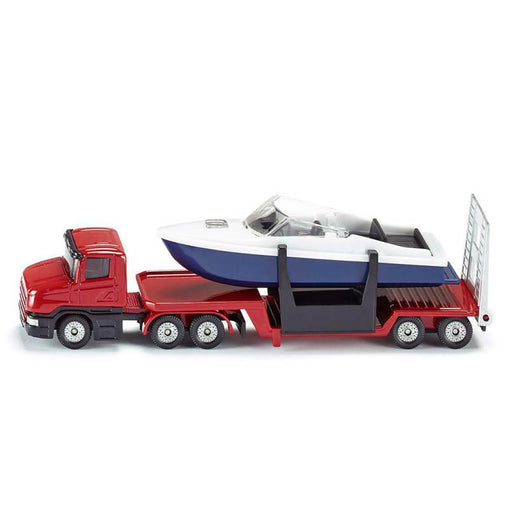 Siku Low Loader with Boat Diecast Model