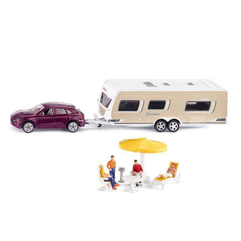 Siku Car with Caravan - 1:55 Scale