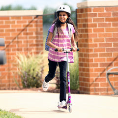 Sprite Micro Scooter Purple Girl Riding