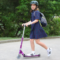Sprite Micro Scooter Purple Girl Riding 2