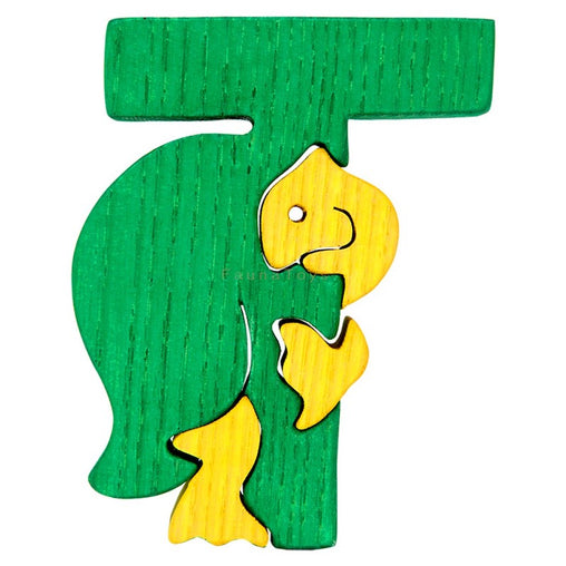 Fauna T for Turtle Letter Puzzle