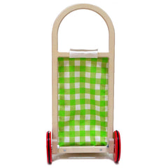 Tender Leaf Toys Shopping Trolley Pull Along Back view