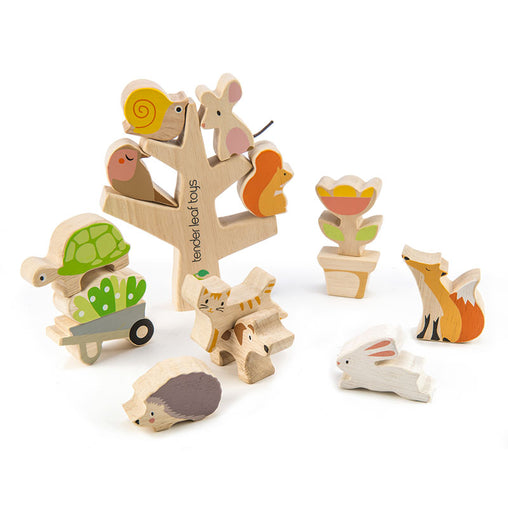 Tender Leaf Toys Wooden Garden Stacking Friends