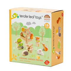 Tender Leaf Toys Wooden Garden Stacking Friends Packaging