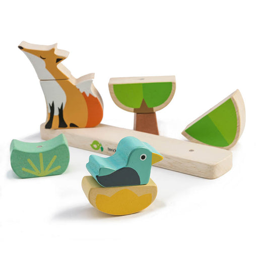 Tender Leaf Toys Wooden Fox Magnetic Stacker