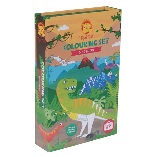 Tiger Tribe Colouring Set Dinosaurs Front Packaging